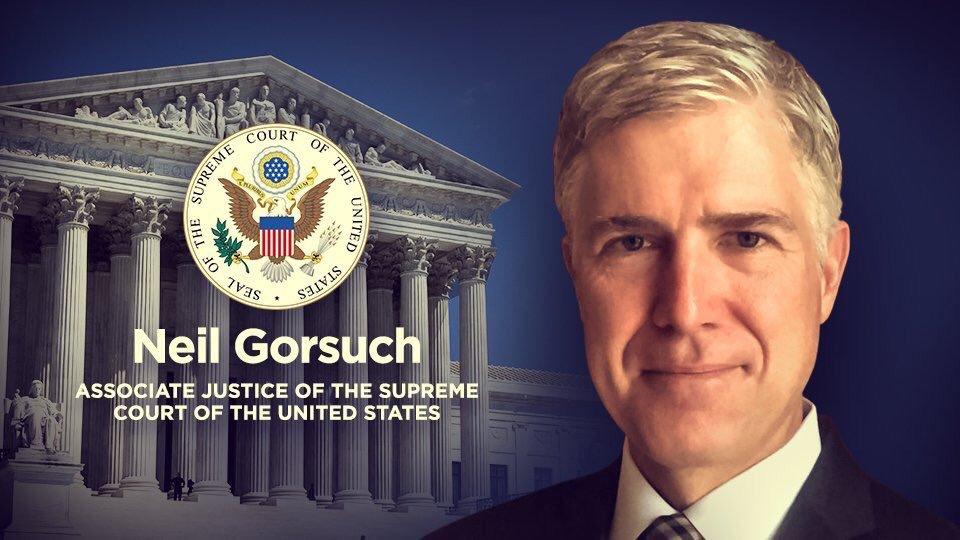 Congratulations Justice Neil Gorsuch