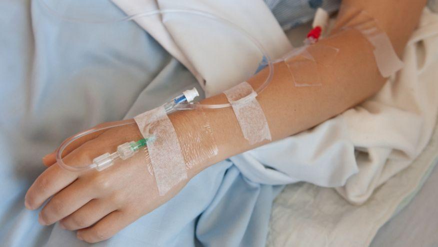 IV drip hand istock