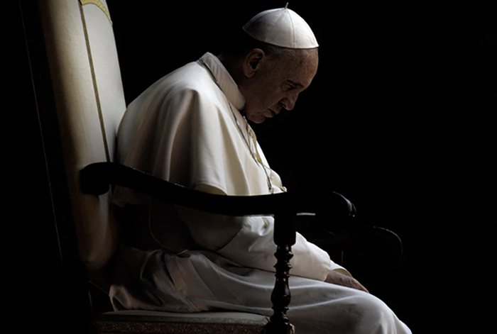 Pope Francis prays vigil in Saint Peter square Pope has called f