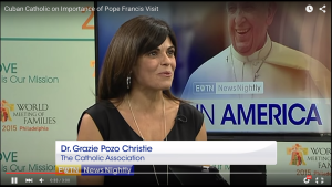 Grazie Christie Discusses the Pope's Visit with EWTN