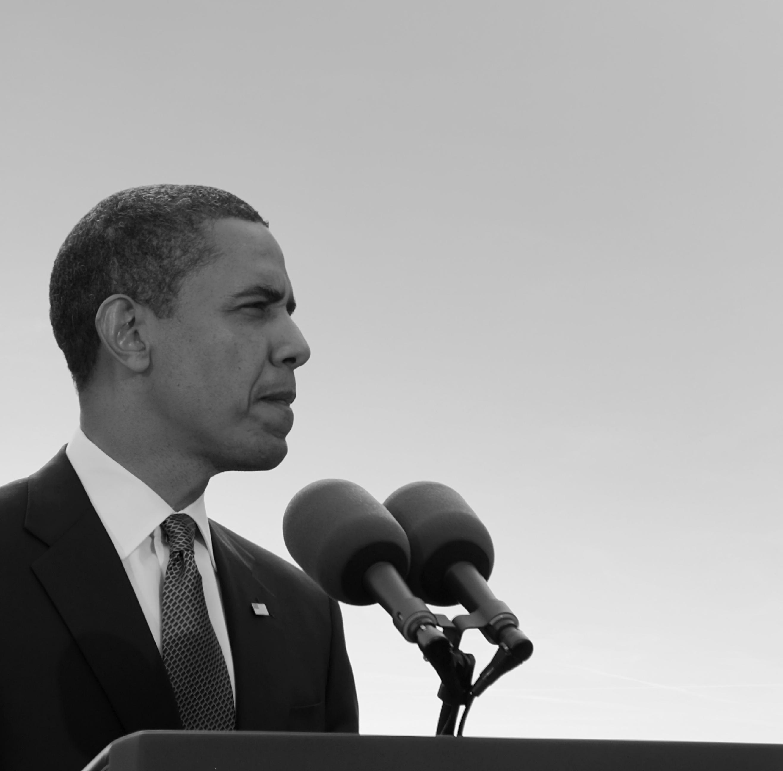 PRAGUE, CZECH REPUBLIC-APRIL 5: U. S. president Barack Obama giv