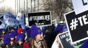 Women rally outside Supreme Court for religious liberty