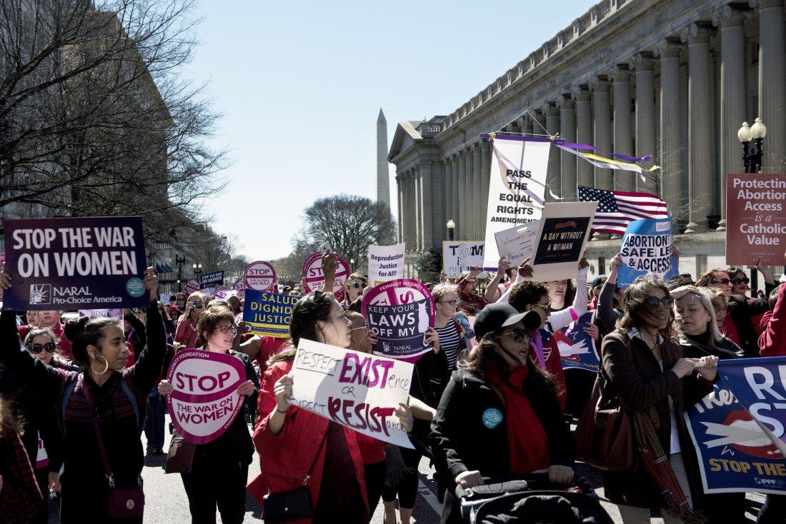 US-POLITICS-INTERNATIONAL WOMEN'S DAY