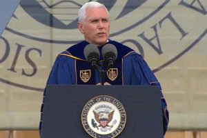 Nets Shrug at Pence's Notre Dame Remarks, Hyped Obama's 2009 Speech