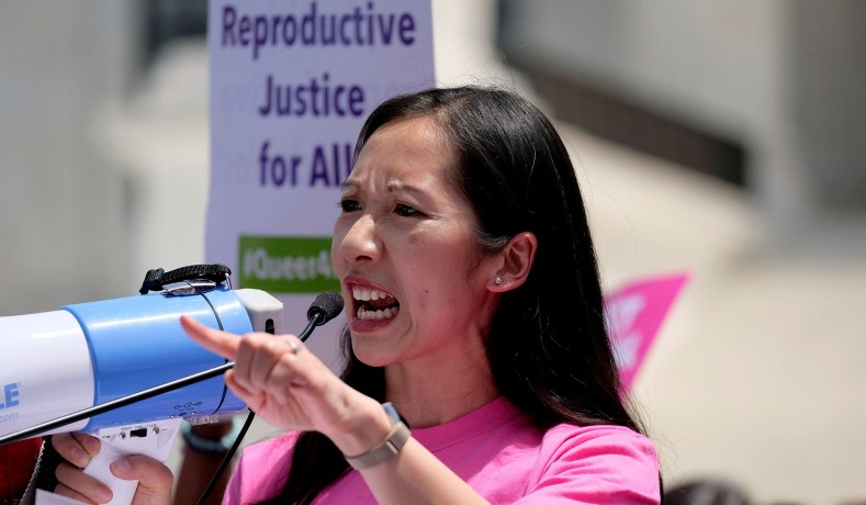 FILE PHOTO: Planned Parenthood president Dr. Leana Wen speaks at a protest against anti-abortion legislation at the U.S. Supreme Court in Washington